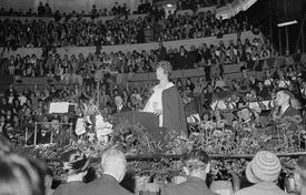 Aimee Semple McPherson Preaching