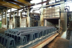 Annealing oven at steel works
