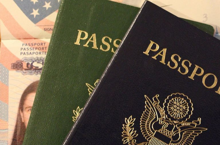 Close up of passports with an ID card.