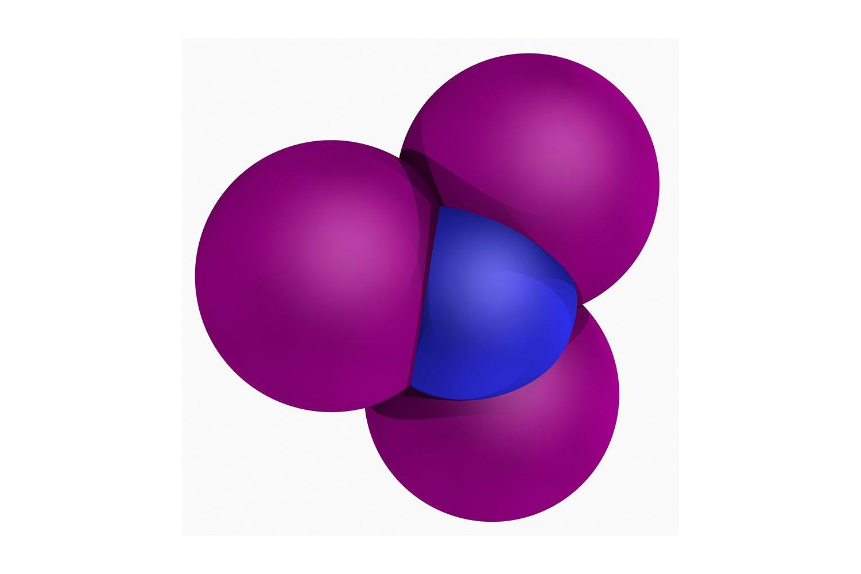 Nitrogen triiodide molecule