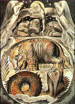 """Behemoth and Leviathan"" by William Blake, from his Illustrations of the Book of Job."