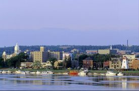 Fredericton, New Brunswick. View From St. John River.