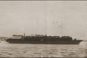 The Struma, a ship filled with Jewish refugees headed to Palestine.