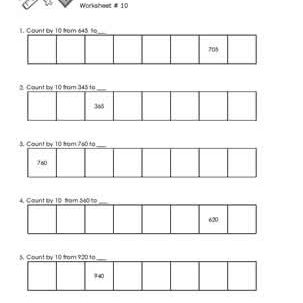 Worksheet # 10