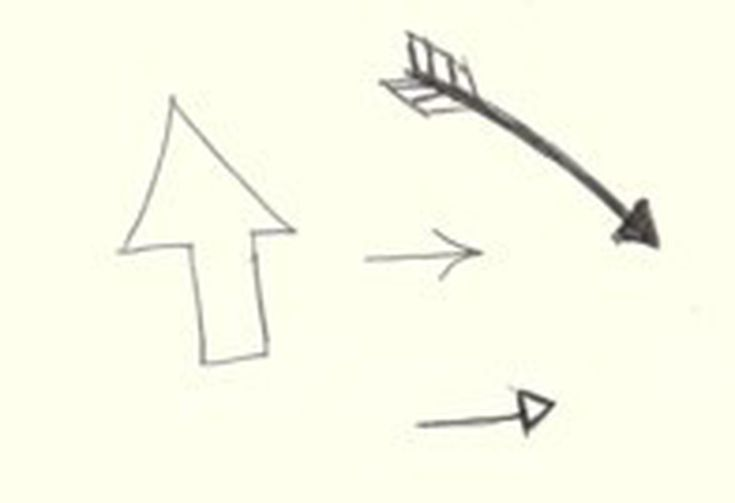 Doodle And Symbol Interpretation Arrows