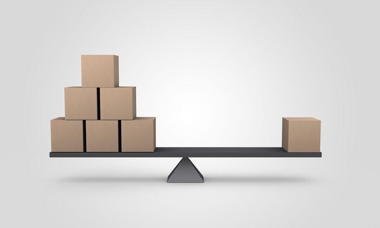 Boxes on a balance