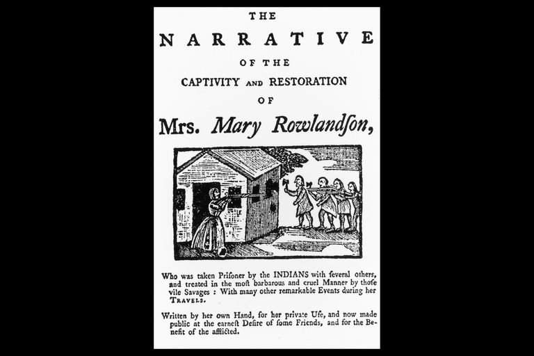 Title Page of Mary Rowlandson's Narrative