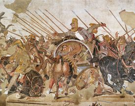 Detail of Fleeing Persians from The Battle of Issus Roman Mosaic