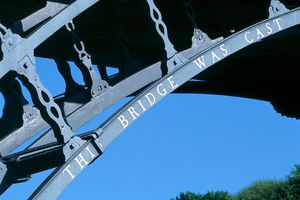 his iron bridge was designed and built in the Darby foundry. It was the first in the world to use cast iron.