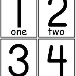 Фласх картице са бројевима