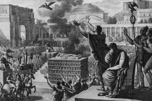 Illustration of Augustus' funeral.