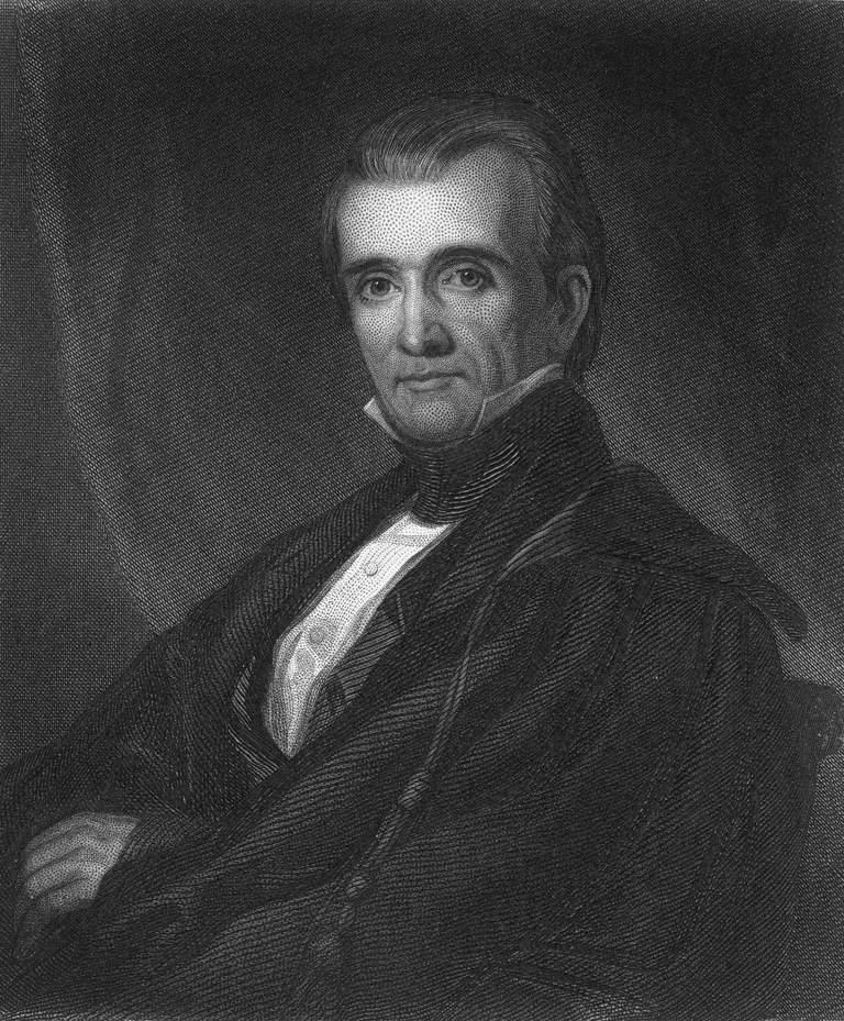 President James K. Polk. President during the Mexican American War and era of Manifest Destiny.