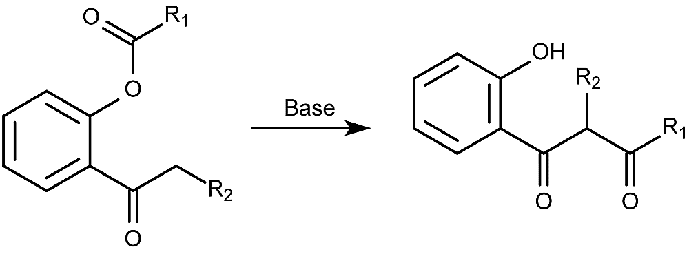 This is the general form of the Baker-Venkataraman rearrangement reaction.