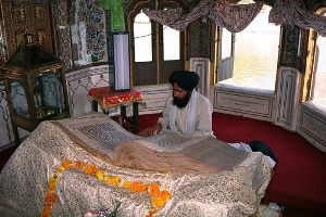 Hukam is a verse read at random from the Sikh Scripture Guru Granth Sahib