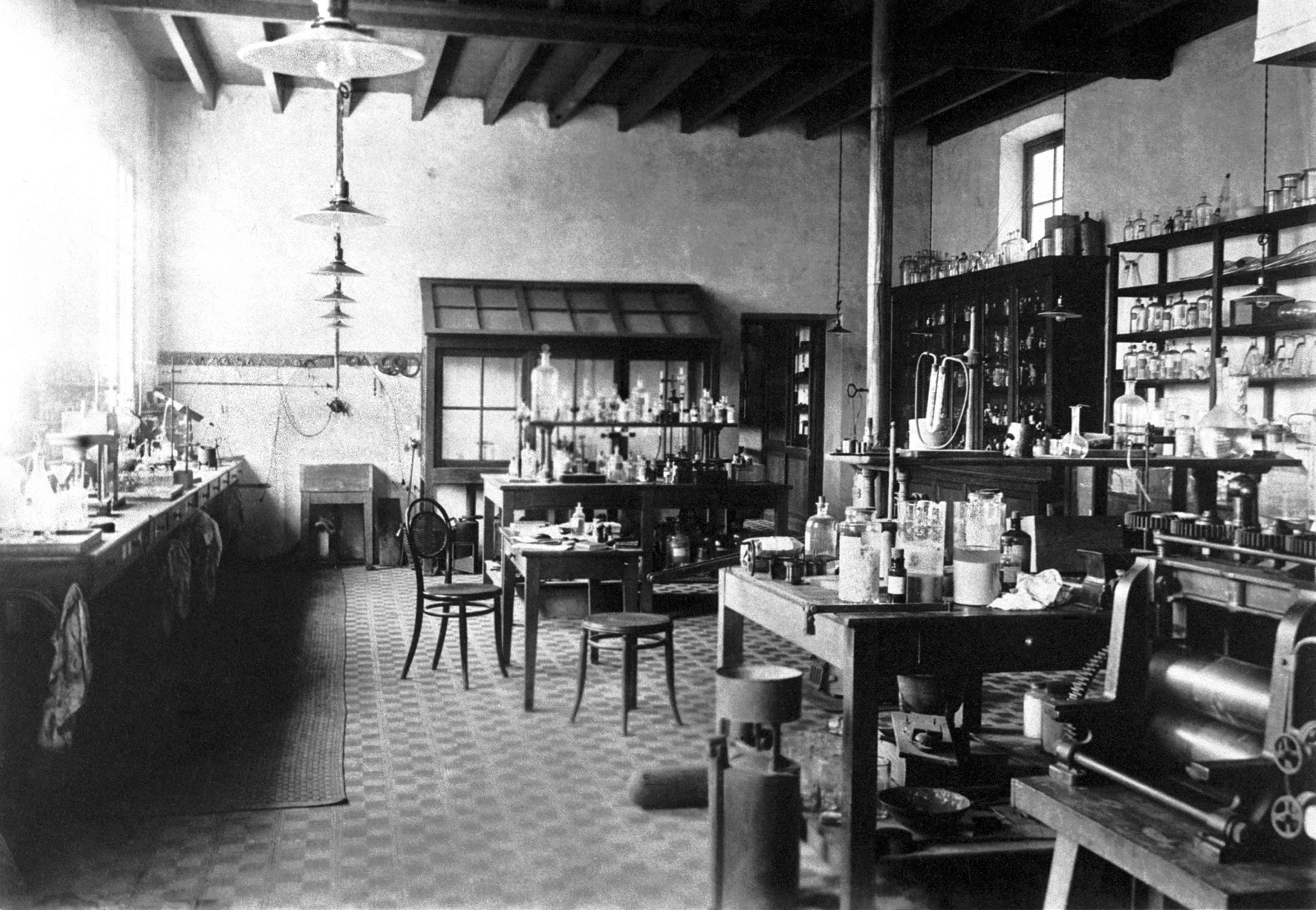Laboratorium of Alfred Nobel at his Villa in Sanremo, 1890s