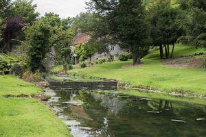 A house along a riverbank