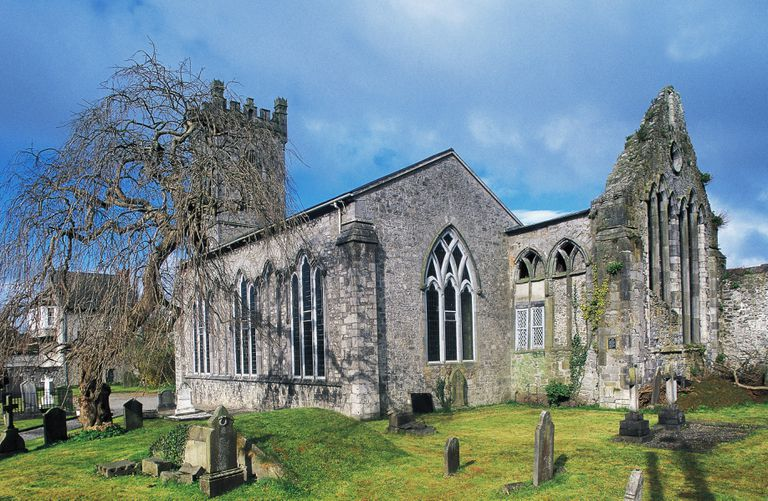 St. John's Church in Kilkenny, Ireland, is one of over 1,000 Irish churches with parish registers online.