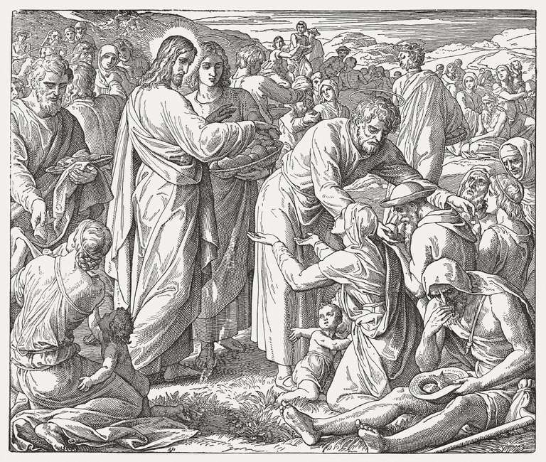Feeding of the Five Thousand (John 6,1-15), published 1890