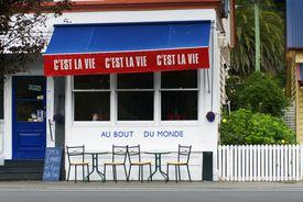 It's 'c'est la vie' even at 'the end of the world' ('au bout du monde').