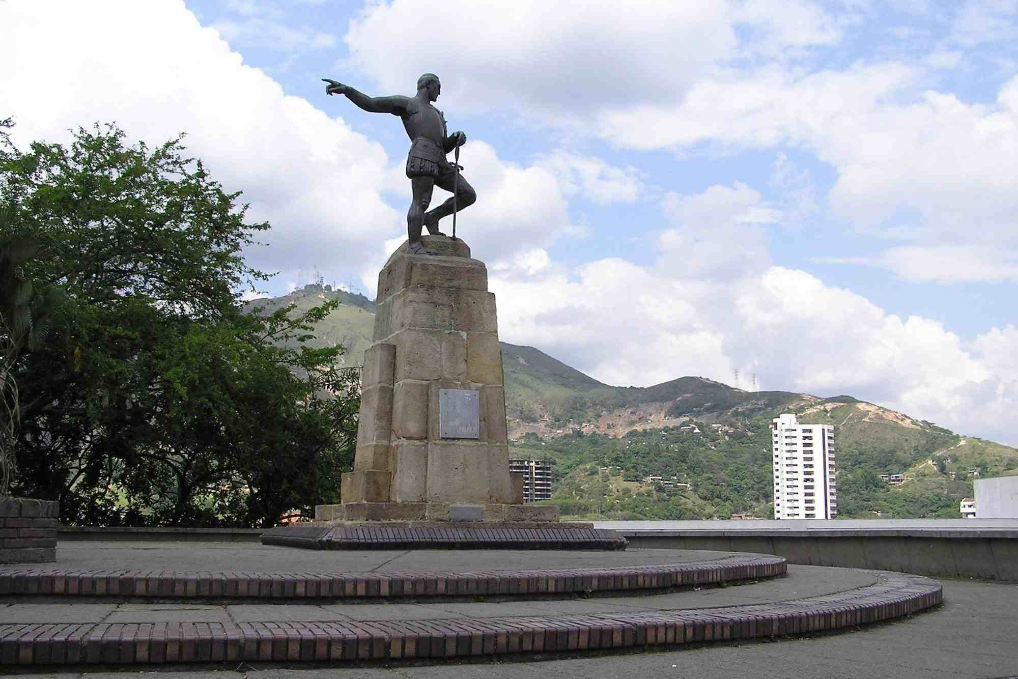 Statue of Sebastián de Belalcázar in the Colombian city of Santiago de Cali