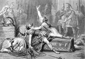 Engraving of a Scene from Shakespeare's Antony And Cleopatra by David Henry Friston