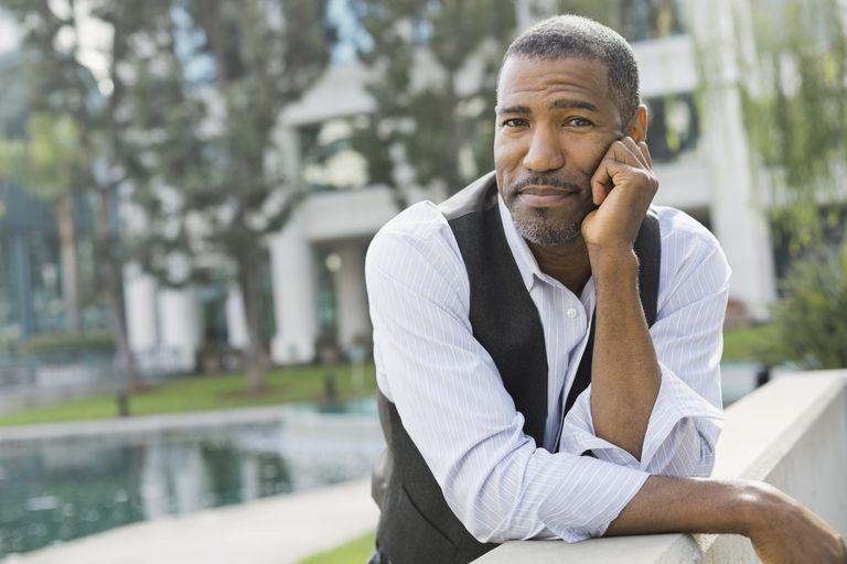 Man looking pensive