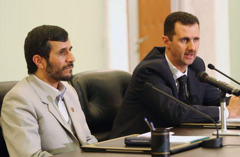 Iranian President Mahmoud Ahmadinejad Visits Syria