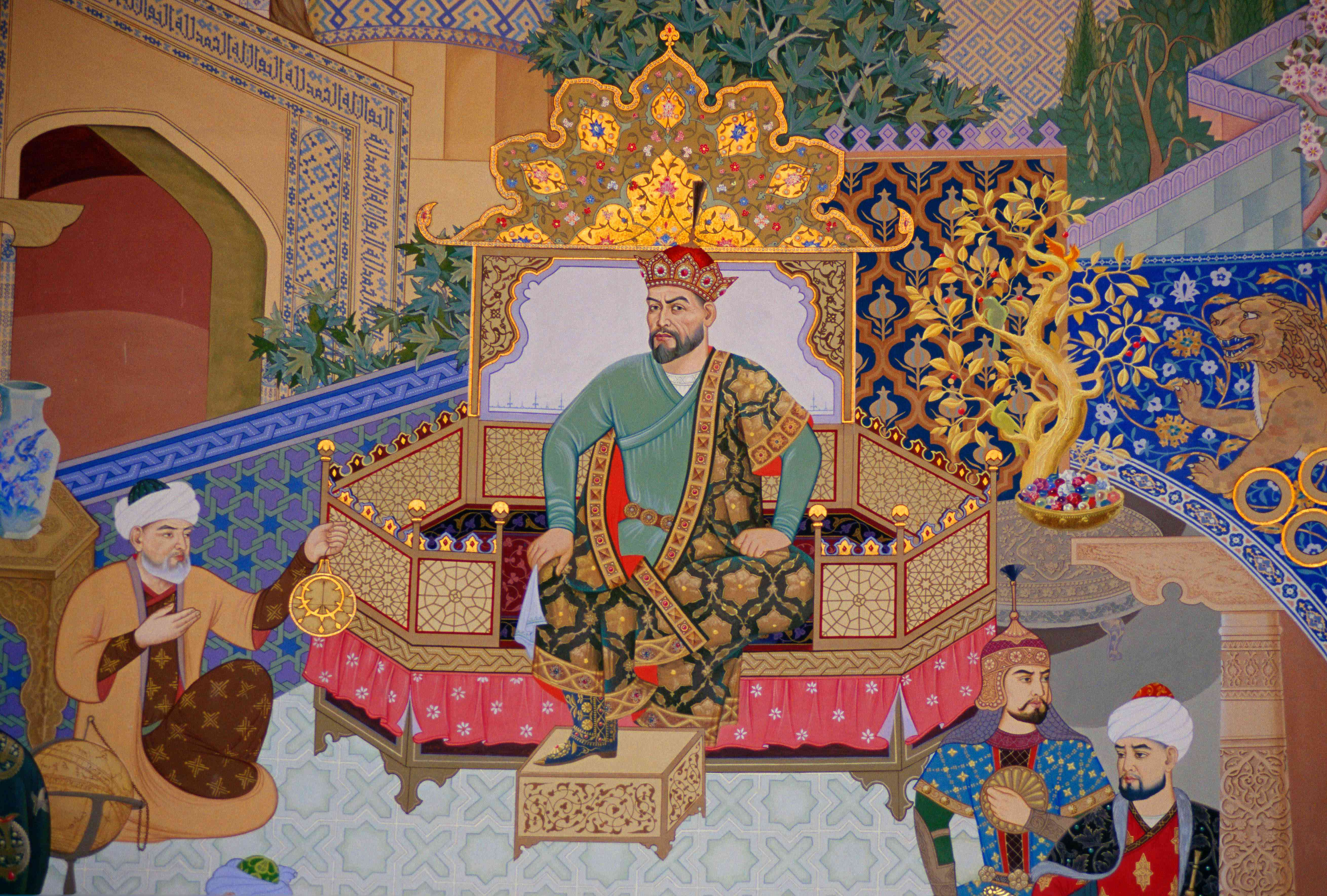 Mural of Tamerlane, Uzbekistan