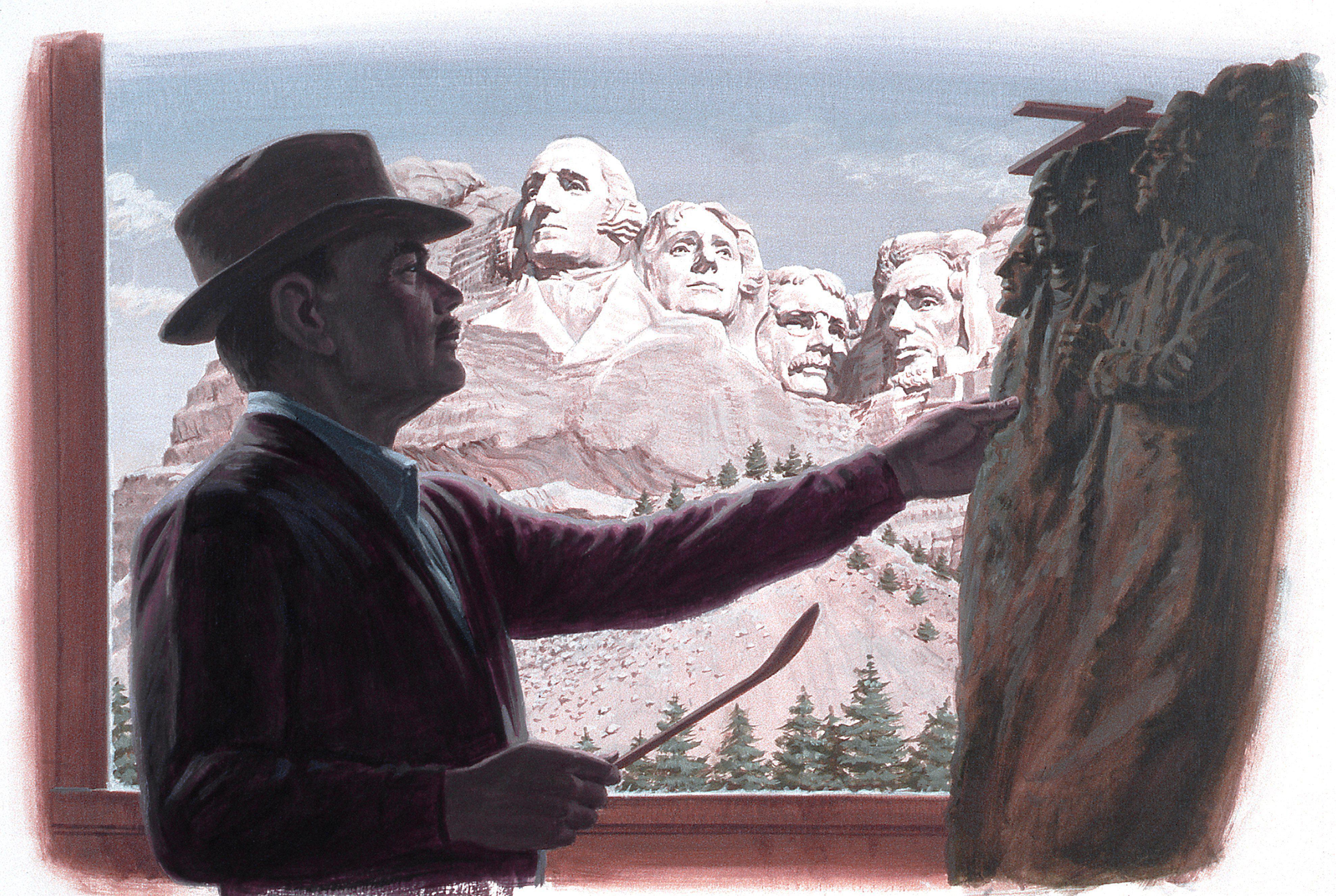 A painting of sculptor Gutzon Borglum