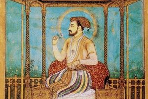 Shah Jahan on the Peacock Throne, which was later stolen and carried to Persia