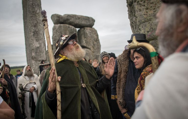 Autumn Equinox being celebrated at Stonehenge