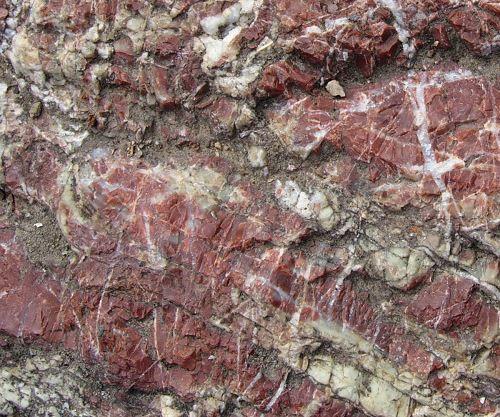 Red metachert rock formation.