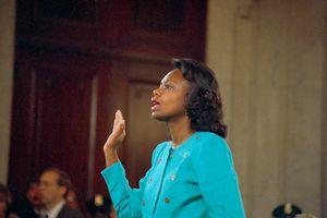 Lawyer Anita Hill Before Testifying at Senate Judiciary Hearing