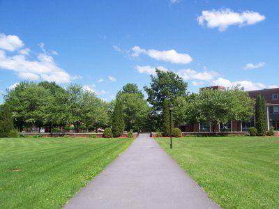 Walkway Through the Main Quad at SUNY Potsdam