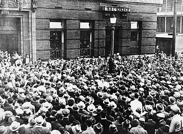 Relief Demonstration in Vancouver 1937