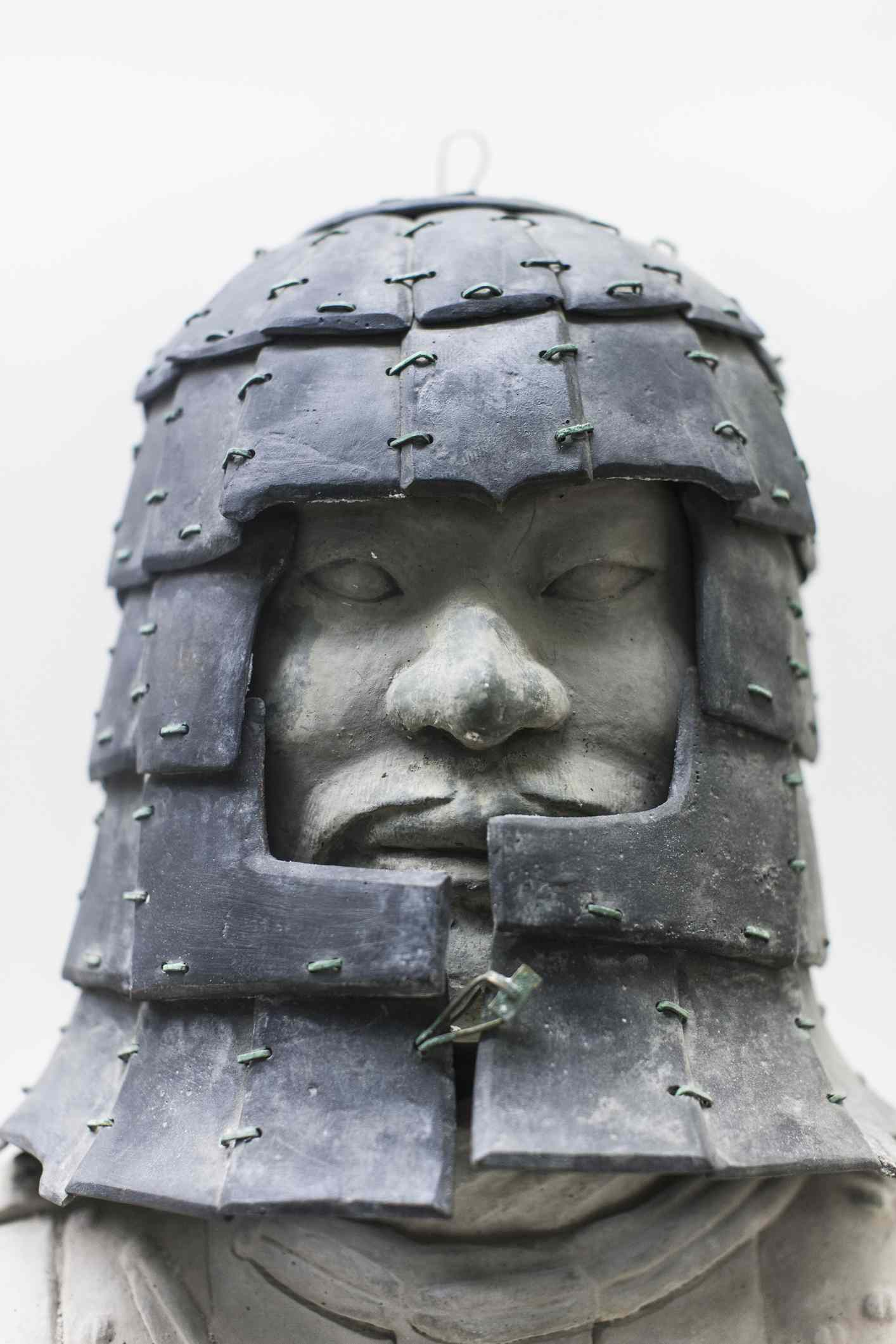 Stone armor of a terracotta warrior