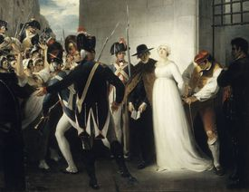 Marie Antoinette Being Taken to Her Execution on 16 October 1793, 1794. Artist: Hamilton, William (1751-1801)