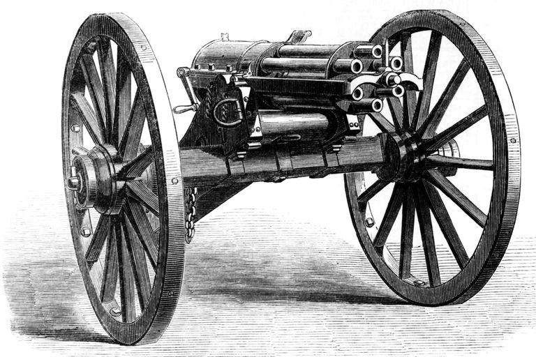 A sketch of a civil war gatling gun