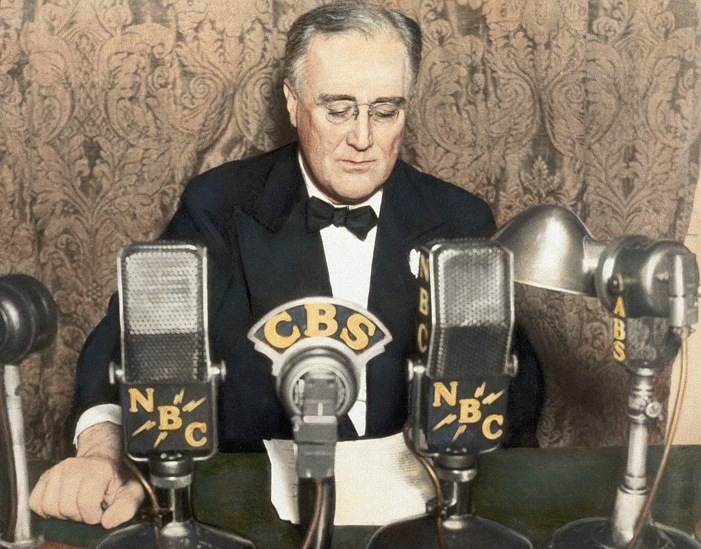Franklin Roosevelt Delivers Radio Address