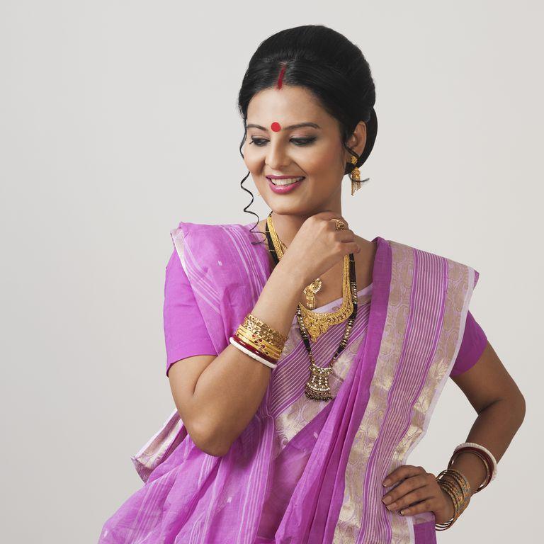 Close-up of a Bengali woman smiling