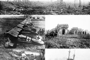 Photo collage from World War I.