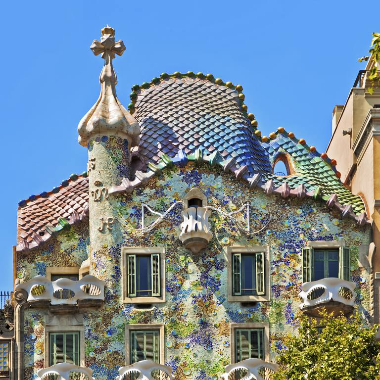 Colorful Casa Batllo By Antoni Gaudi In Barcelona Spain