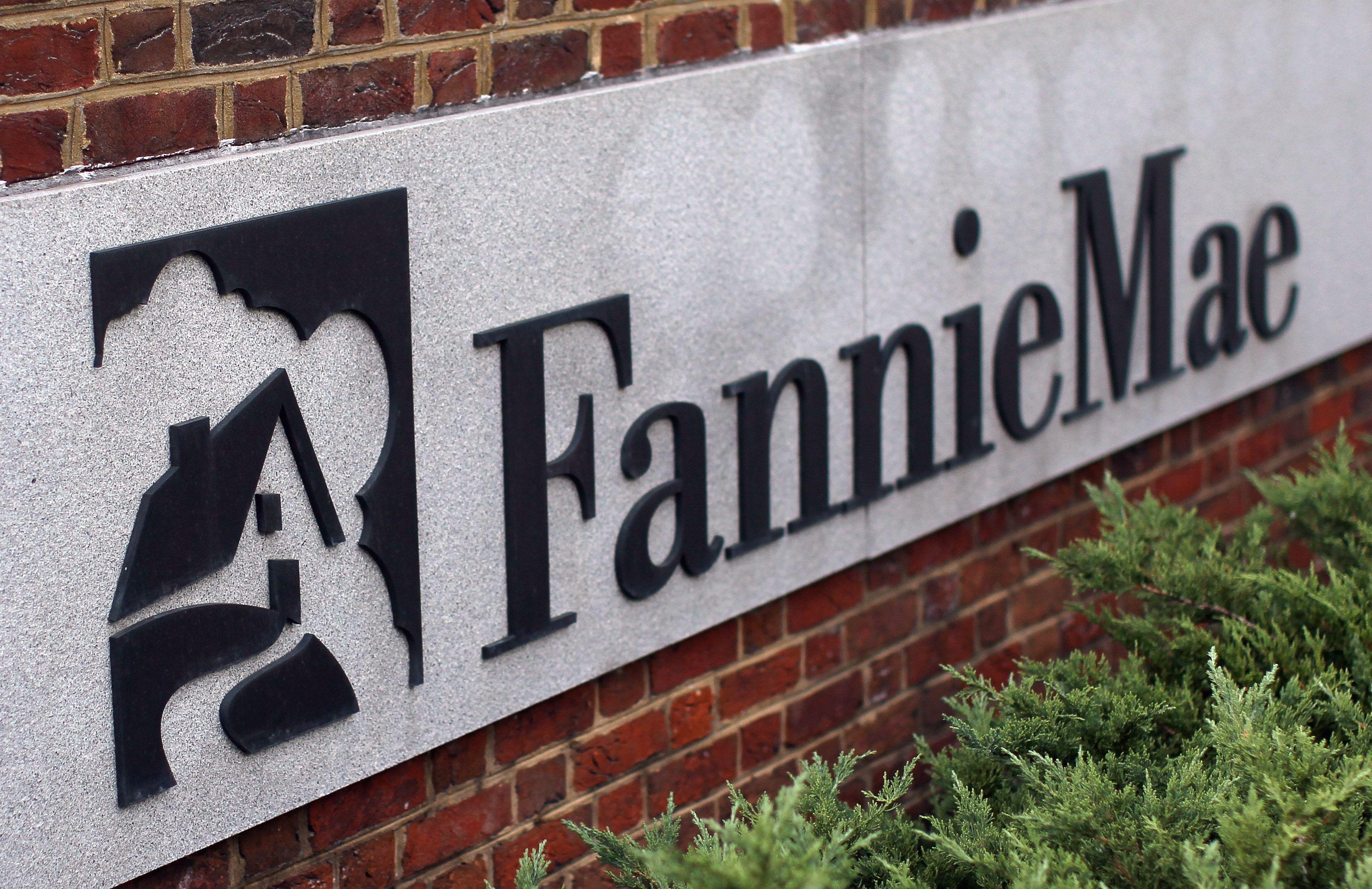 Fannie Mae sign on brick building