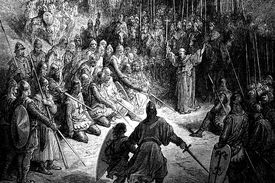Peter the Hermit preaching the crusade by Gustave Dore