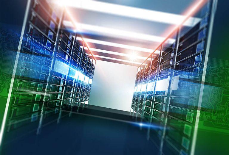 Website hosting server room
