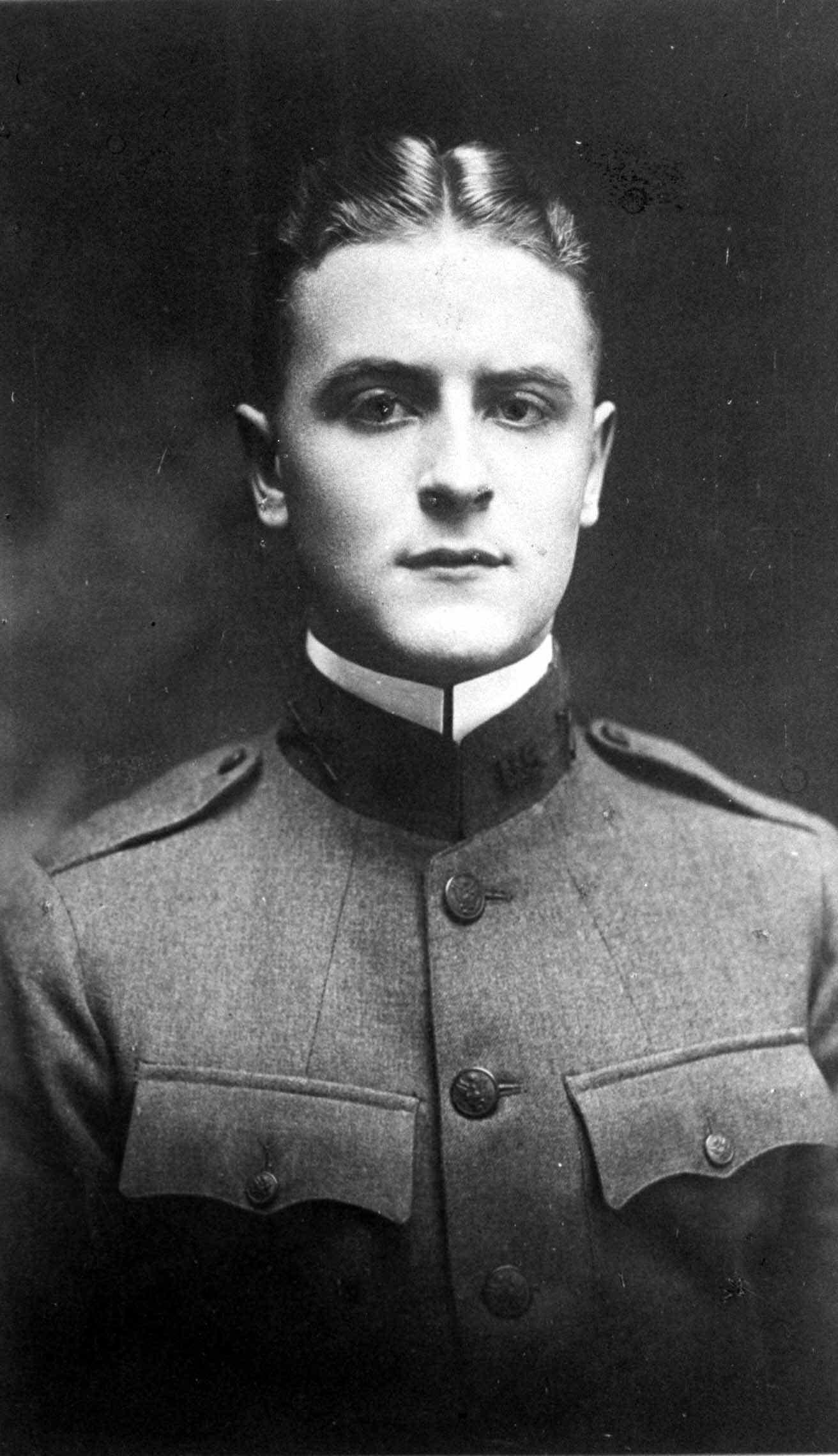 F. Scott Fitzgerald in military uniform