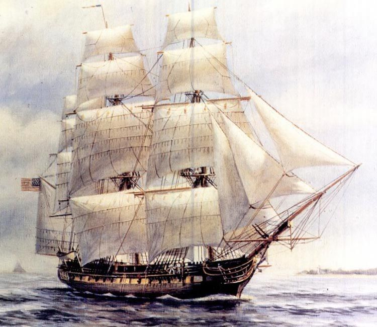 USS Chespeake unter Segeln