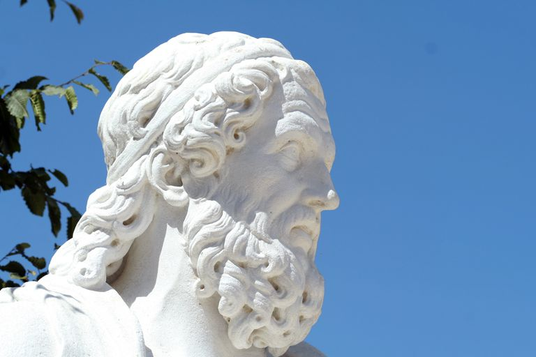 Statue of the Greek rhetor Isocrates