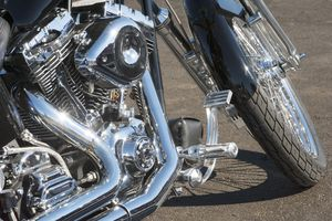 Chrome on a motorcycle