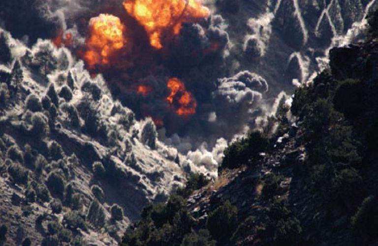 US airstrikes hit Tora Bora in November/December 2001.